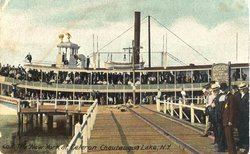 Steamer City of New York at Celoron